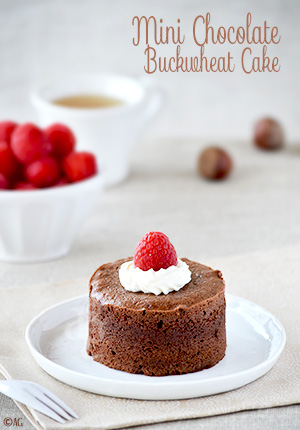 Gâteau au chocolat de David Lebovitz en version mini – Chocolate Buckwheat Cake