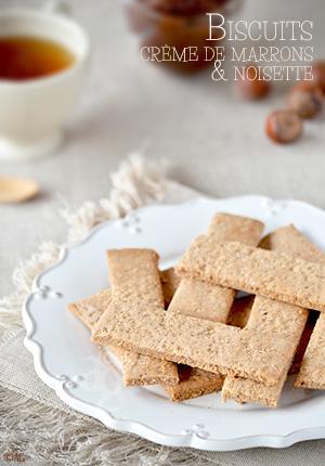 Biscuits à la crème de marrons & noisette