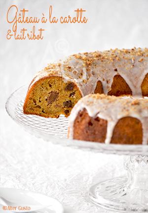 Gâteau à la carotte & lait ribot
