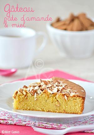 Gâteau à la pâte d'amande & miel