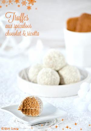Truffes aux spéculoos, chocolat blanc & ricotta - Idées de gourmandises pour les fêtes