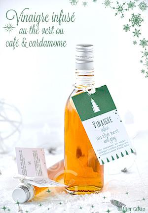 Vinaigre infusé au thé vert ou café & cardamome – Cadeau gourmand #2