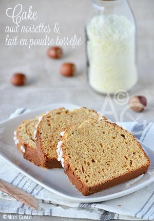 Cake aux noisettes & lait en poudre torréfié
