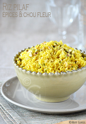 Riz pilaf aux épices & chou fleur