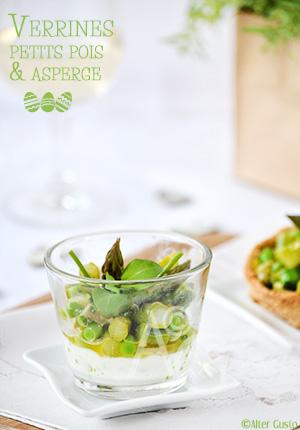 Verrines printanières aux petits pois & asperge - Pâques #2