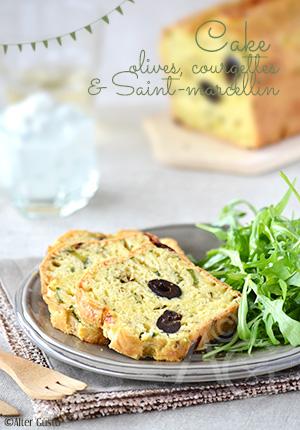 Cake aux olives, courgettes & Saint-marcellin pour les 8 ans du blog
