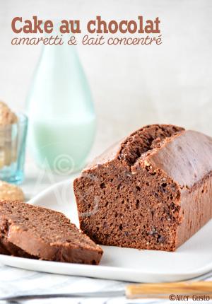 Cake au chocolat, amaretti & lait concentré
