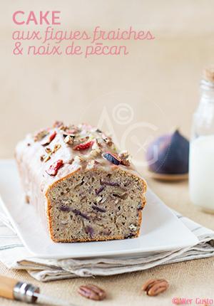 Cake aux figues fraîches & noix de pécan