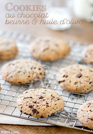 Cookies au chocolat, beurre & huile d'olive