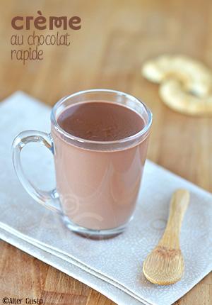 Petites crèmes au chocolat – Version rapide