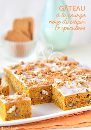 Gâteau à la courge, noix de pécan & spéculons Alter Gusto