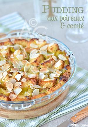 Pudding aux poireaux & comté Alter Gusto