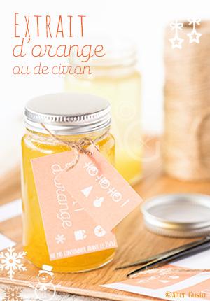 Extrait d'orange ou extrait de citron - Cadeaux gourmands Alter Gusto