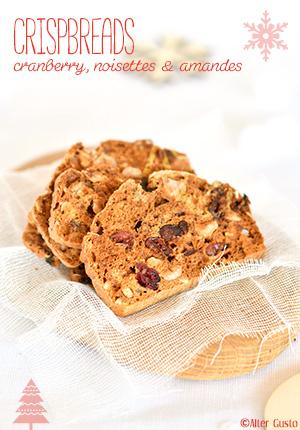Crispbreads - Pain croustillant aux cranberries, noisette et amande Alter Gusto