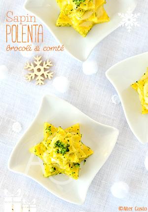Sapins de polenta au brocoli & comté