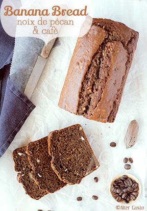 Banana Bread – Cake à la banane, noix de pécan & café