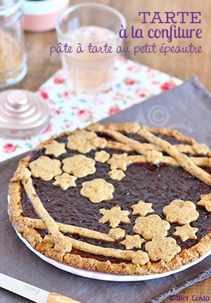 Tarte à la confiture – pâte à tarte au petit épeautre