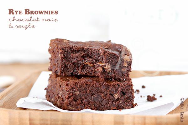 Rye Brownies – Brownies au chocolat noir & farine de seigle