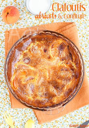 Clafoutis aux abricots & confiture