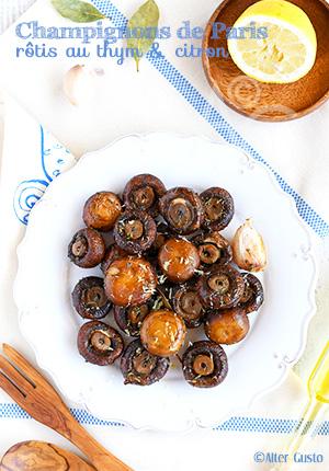 Champignons de Paris rôtis au thym & citron