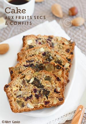 Cake aux fruits secs & confits