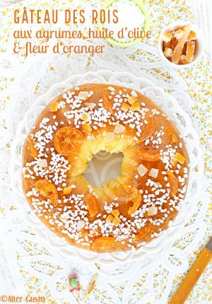 Gâteau des rois aux agrumes confits, huile d'olive & fleur d'oranger (brioche)