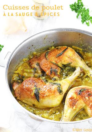 Cuisses de poulet à la sauge & épices