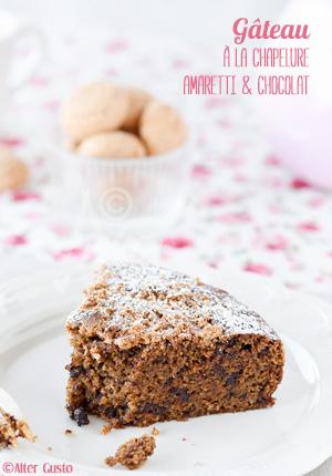Gâteau à la chapelure, amaretti & chocolat