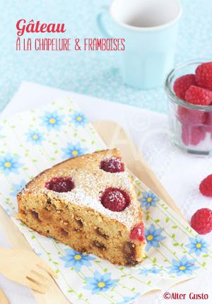 Gâteau à la chapelure & framboises