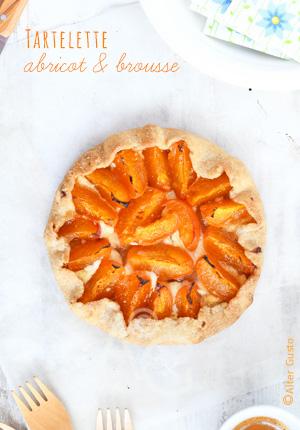 Tartelette à l'abricot & à la brousse (sans moule)