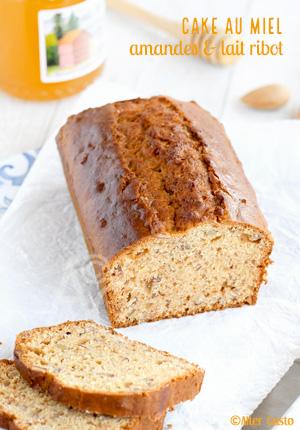 Cake au miel, amandes & lait ribot