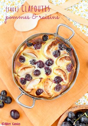 (faux) Clafoutis aux pommes & raisins