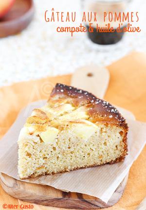 Gâteau aux pommes, compote & huile d'olive – gâteau 6 pots 1/2