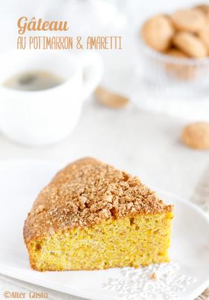 Gâteau au potimarron & amaretti