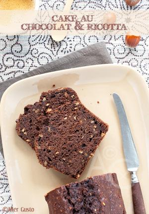 Cake au chocolat & ricotta