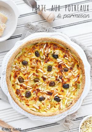 Tarte aux poireaux & parmesan