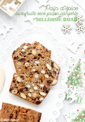 Pain d'épice aux fruits secs millésime 2018 façon panforte