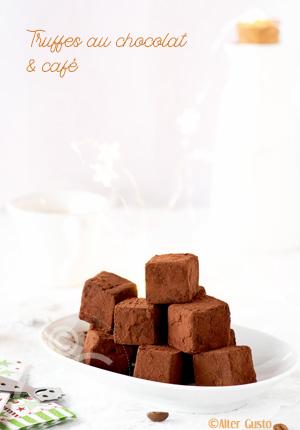 Truffes au chocolat & café