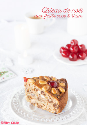 Gateau de noel aux fruits secs