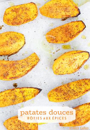 Patates douces rôties aux épices – Cuisson au four