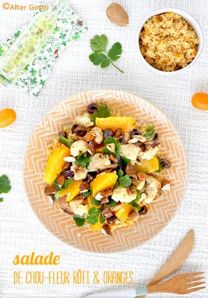 Salade de chou-fleur rôti & oranges