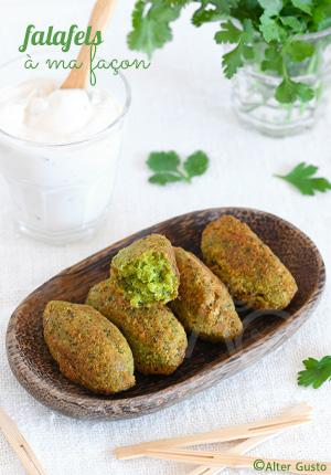 Falafels à ma façon – pois chiches & herbes aromatiques