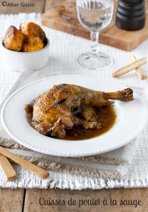 Cuisses de poulet à la sauge (cuisson à la mijoteuse ou au four)
