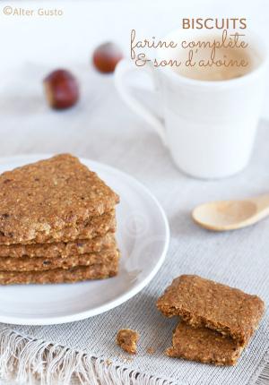 Biscuits à la farine complète & son d'avoine