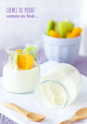 Crèmes au yaourt (ou flans au yaourt…) comme en Inde… Ou presque !