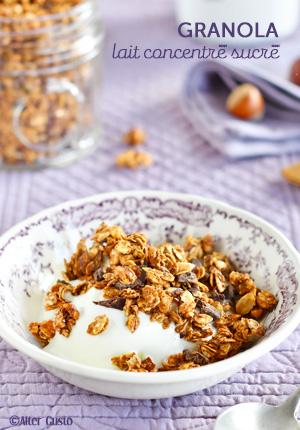 Granola au lait concentré sucré  + conseils pour réussir le granola