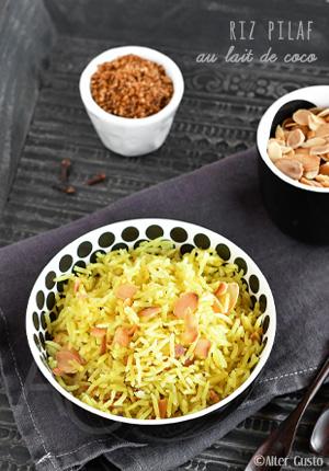 Riz pilaf au lait de coco & épices