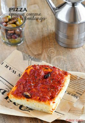 Pizza épaisse comme chez le boulanger (sans pétrissage)