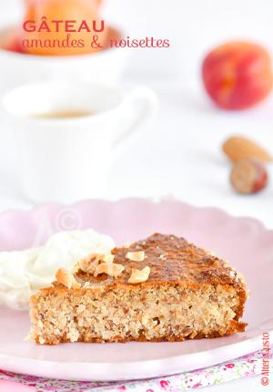 Gâteau aux amandes & noisettes (sans farine)