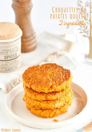 Croquettes de patates douces avec 2 ingrédients seulement !